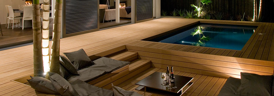 Decking timber decking merbau verandah building a for Pool veranda designs