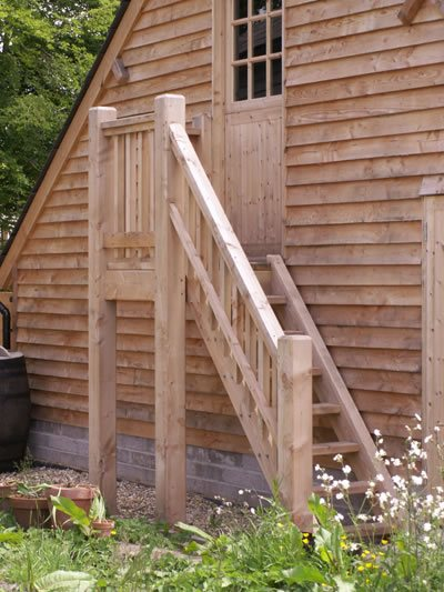 Outdoor Timber Stairs